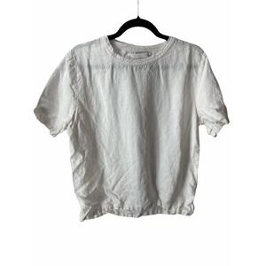 Our Legacy White Short Sleeve Crew Neck Blouse